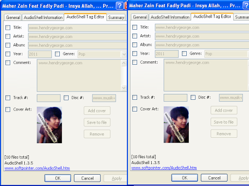 how to change info on mp3 file